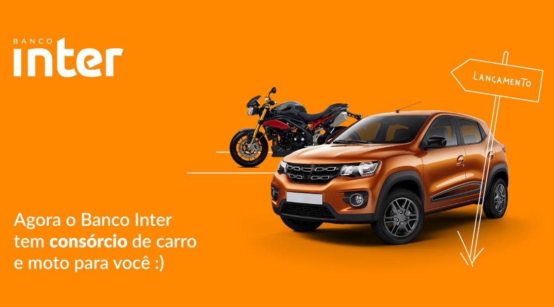 Banco Inter lança consórcio de carros e motos