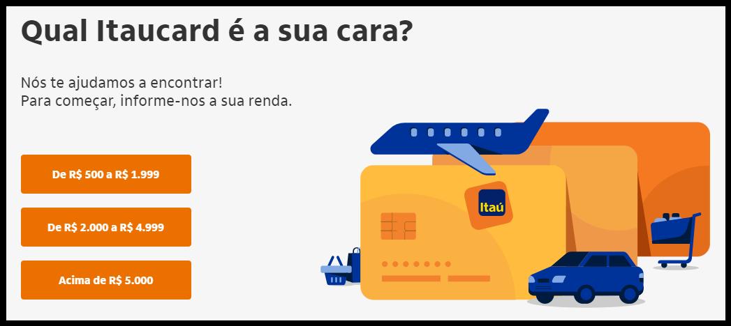 Itaú libera cartão de crédito para não correntistas
