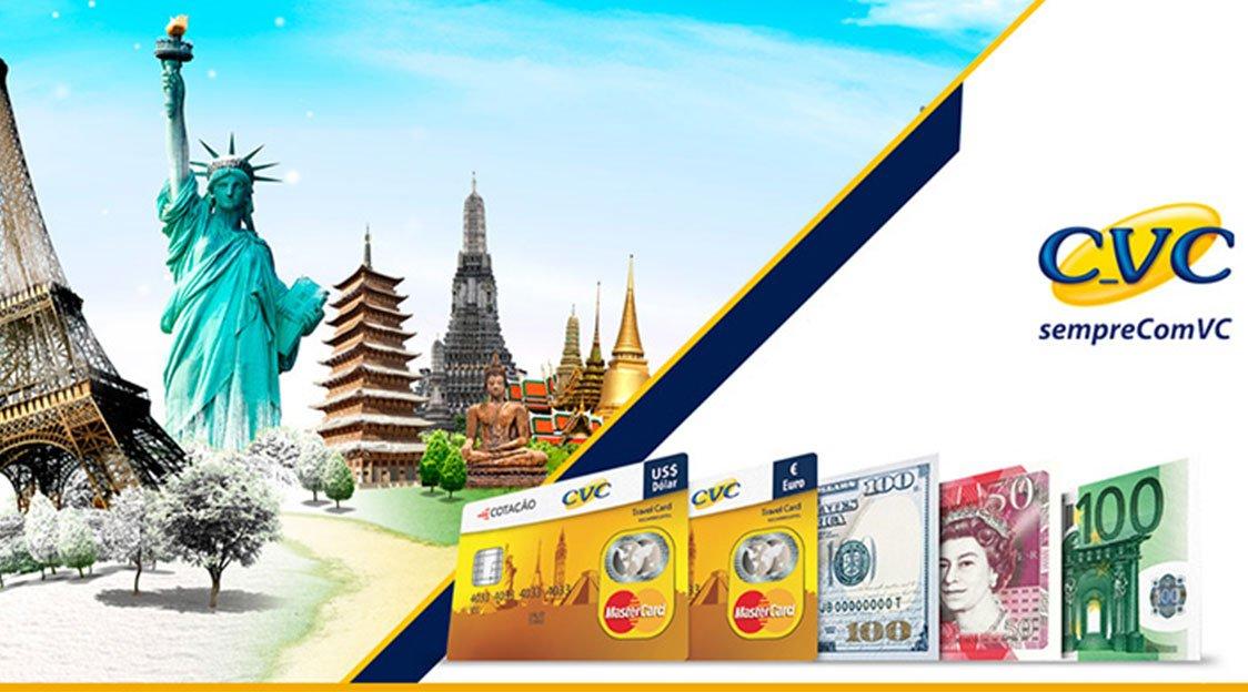 Cartão de crédito CVC permite que você consiga viajar com mais frequência