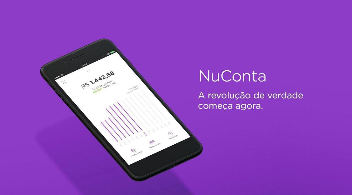 Nubank aumenta para R$ 20,00 o valor mínimo de depósito para a NuConta