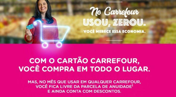 Cartão de crédito Carrefour com anuidade grátis