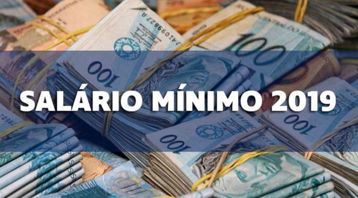 Salário mínimo em 2019