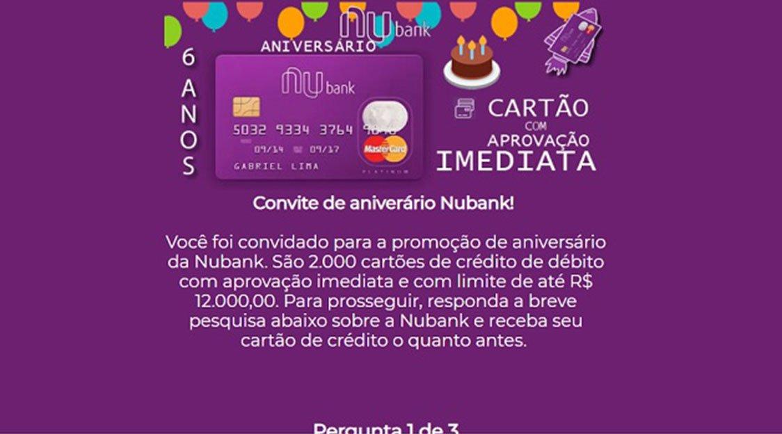 Nubank faz aniversário e envia cartões sem consulta ao SPC/Serasa? Será?