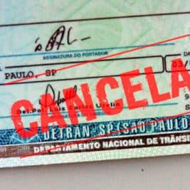 cancelamento da CNH