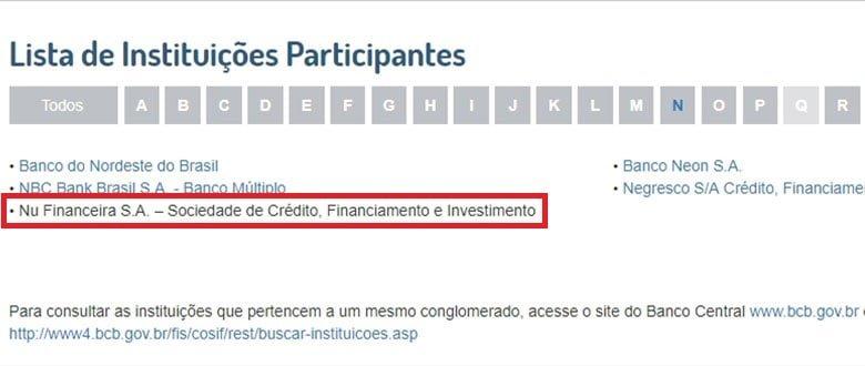 Nubank é vinculada ao FGC