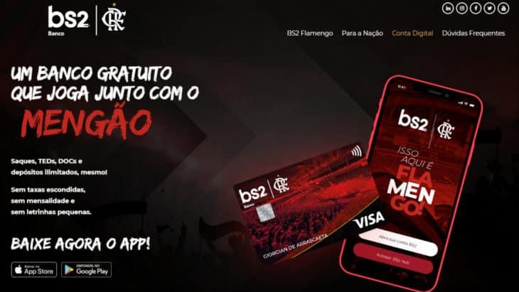 conta gratuita BS2 Flamengo