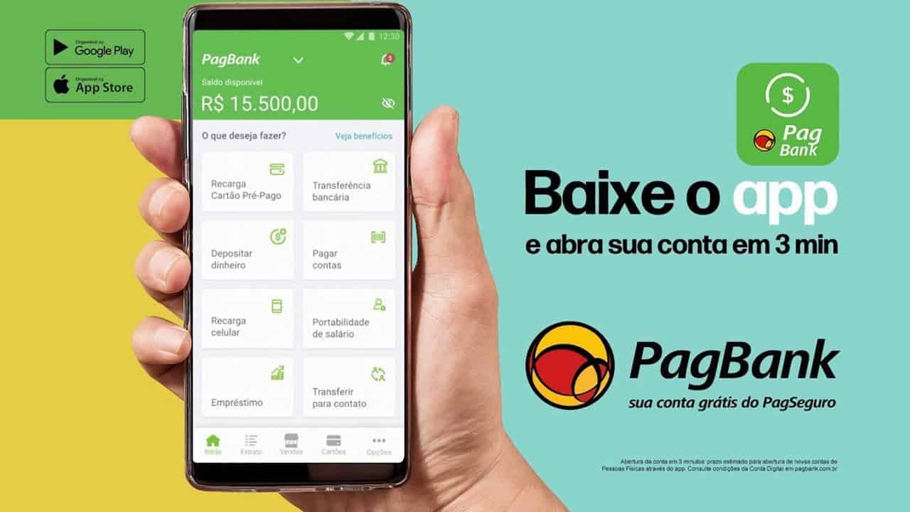 PagBank: PagSeguro lança banco digital com empréstimo rápido e cartão sem anuidade
