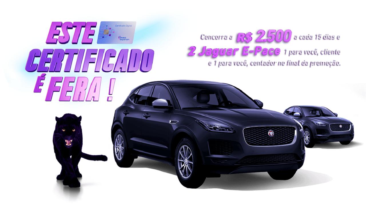 Certificado Digital Serasa Experian: prêmios de R$ 2,5 mil e 2 Jaguar E-Pace