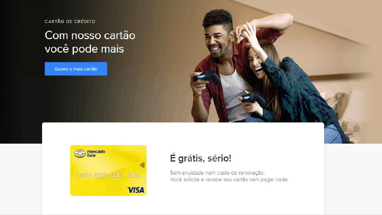 Mercado Livre lança o seu cartão de crédito Visa Gold sem anuidade e contactless