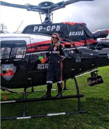 enfermeira helicóptero