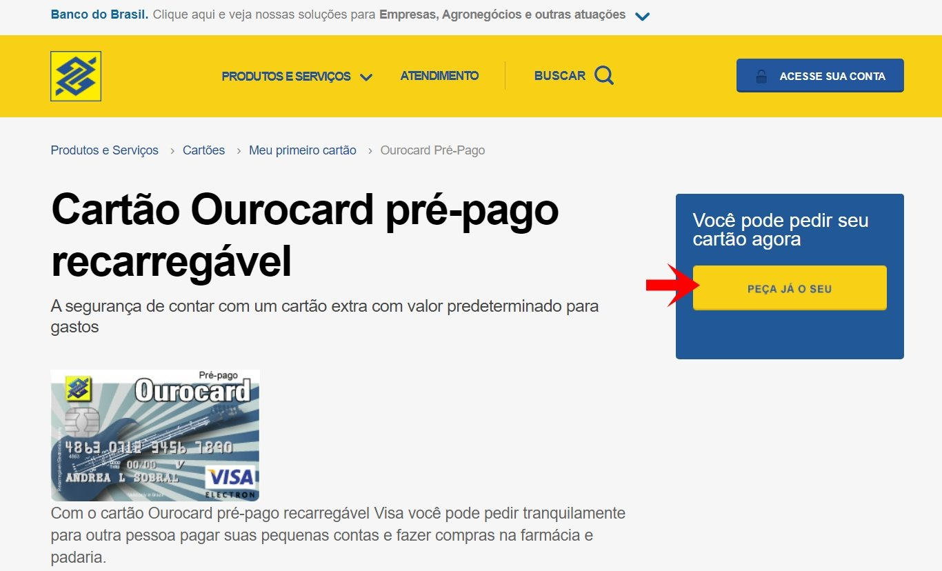 Our prepaid card without consultation with CPF Banco do Brasil