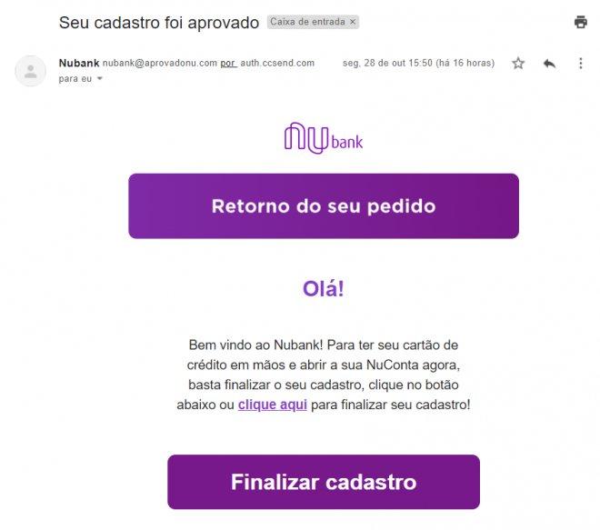 novo golpe do Nubank por Phishing