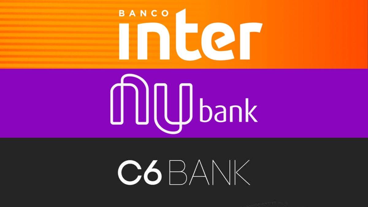 Banco Inter, Nubank ou C6 Bank, qual é o melhor banco digital?