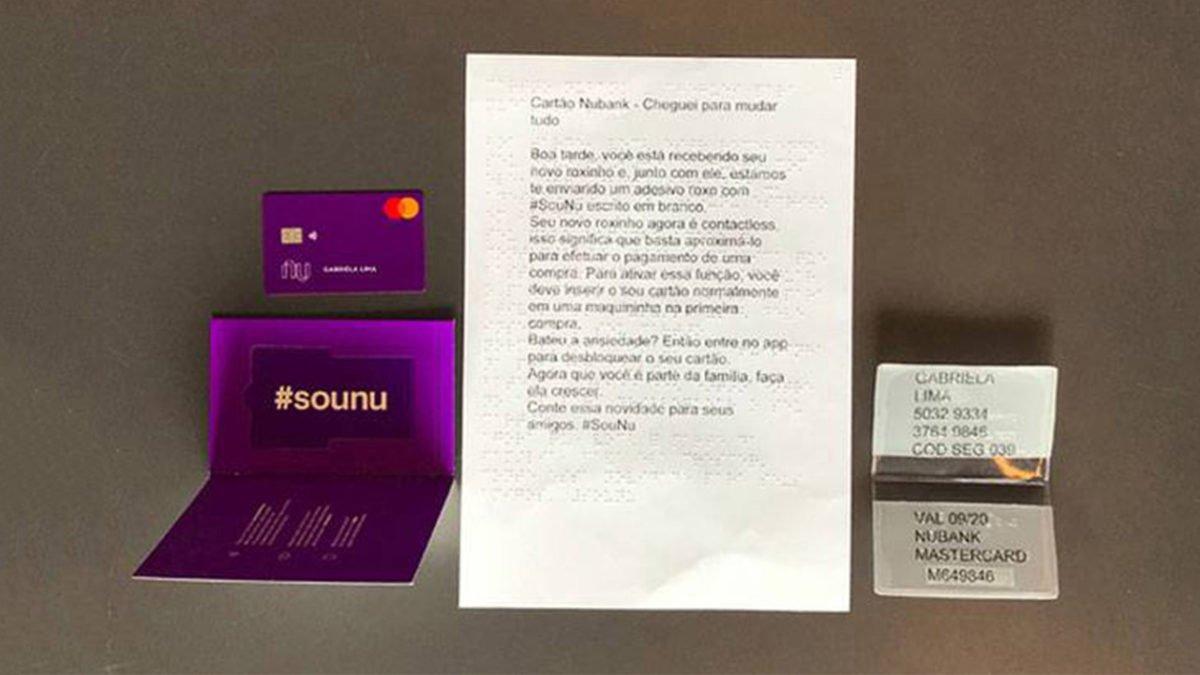 """Nubank envia novo kit de entrega do """"roxinho"""" para seus clientes"""