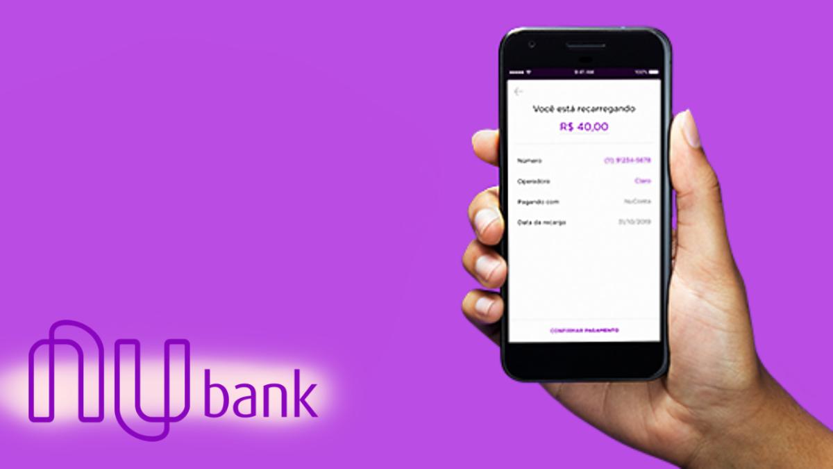 Nubank lança opção de recarga de celular na NuConta