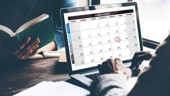 calendario de pagamentos