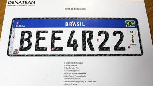 placas do Mercosul