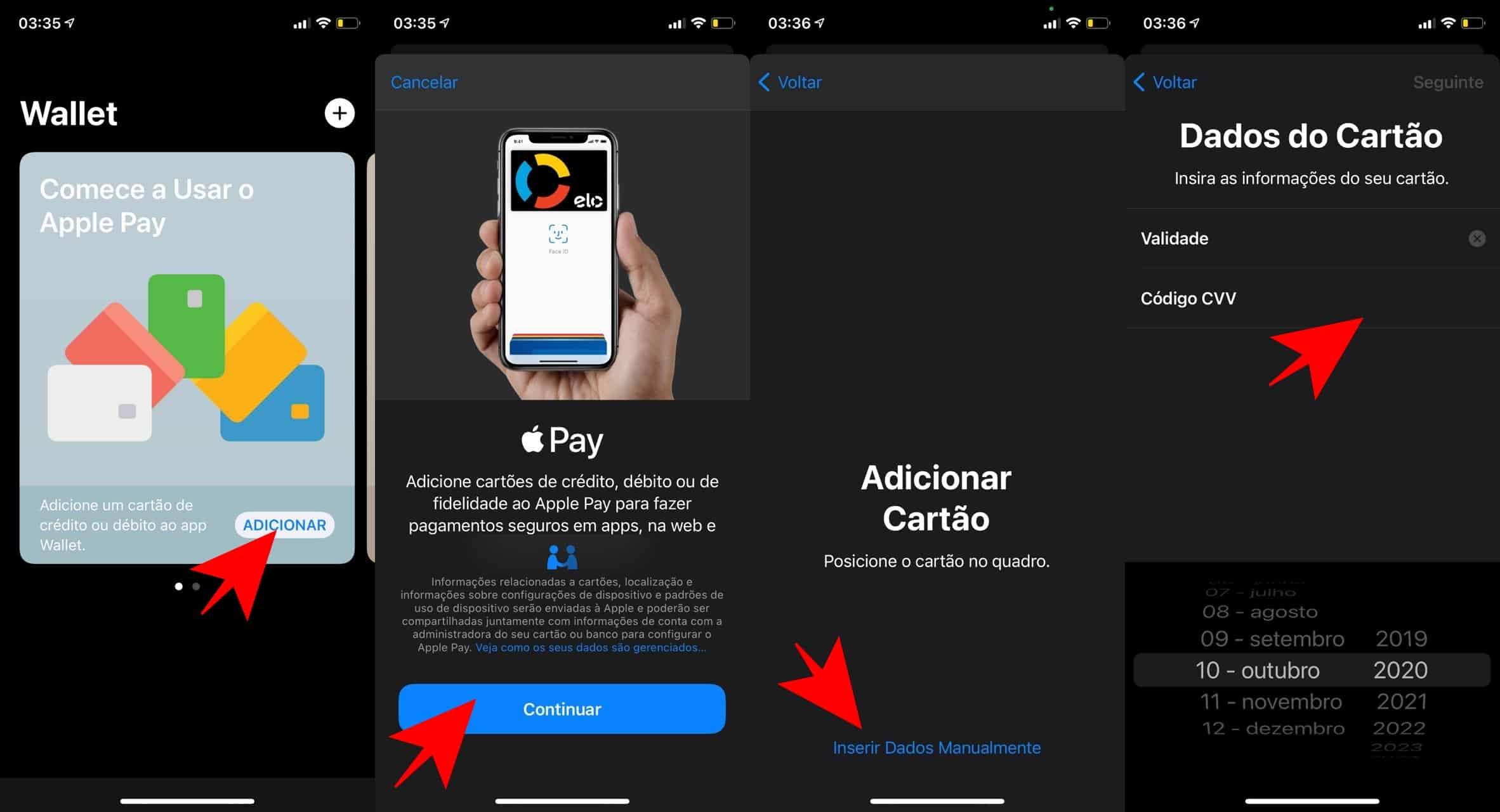 Como configurar o Apple Pay em um iPhone ou iPad