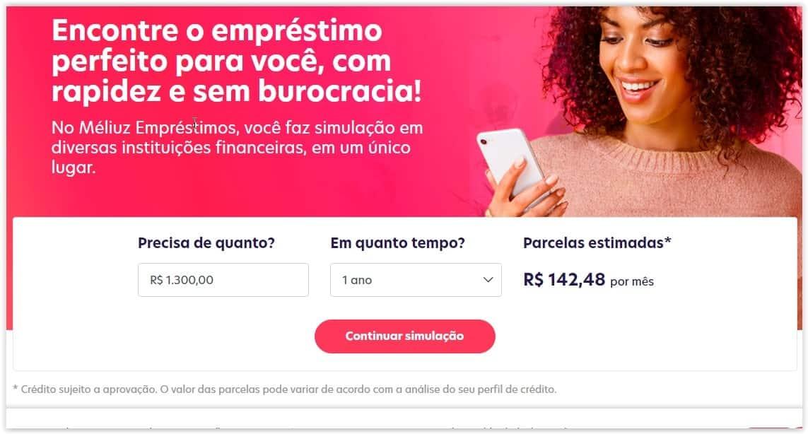 Méliuz Empréstimos site